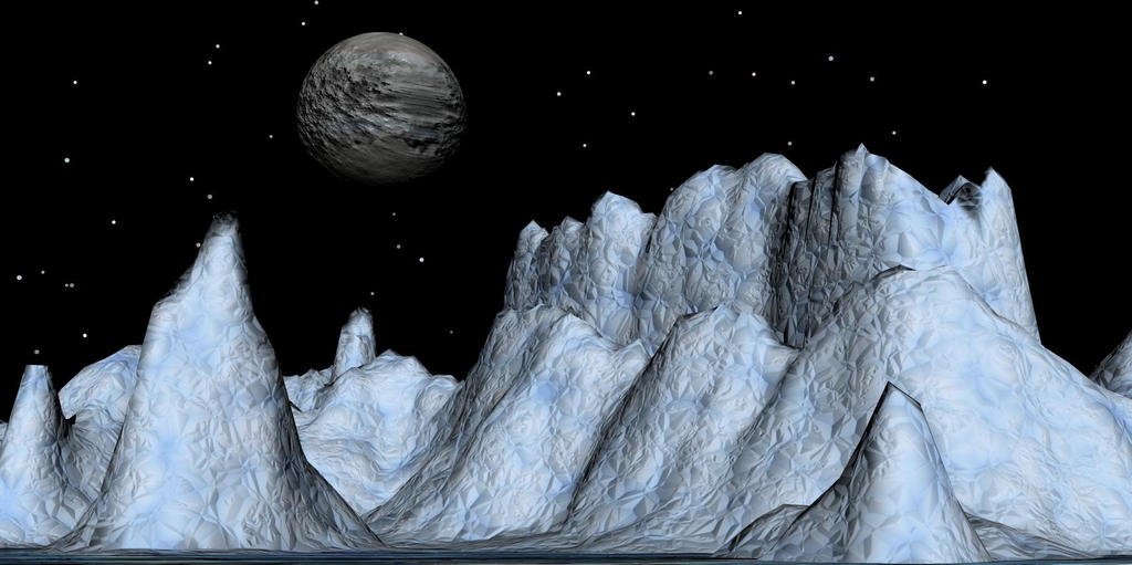 Ice Mountains on Pluto by Freak-Angel56