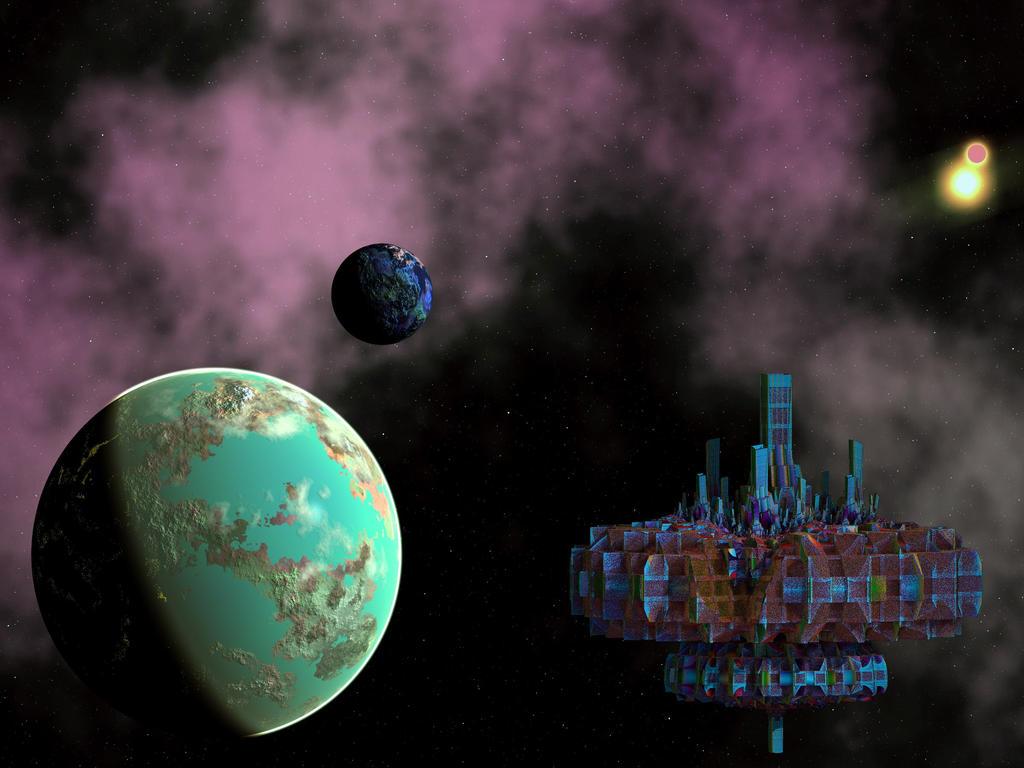 Space metropolis by Freak-Angel56