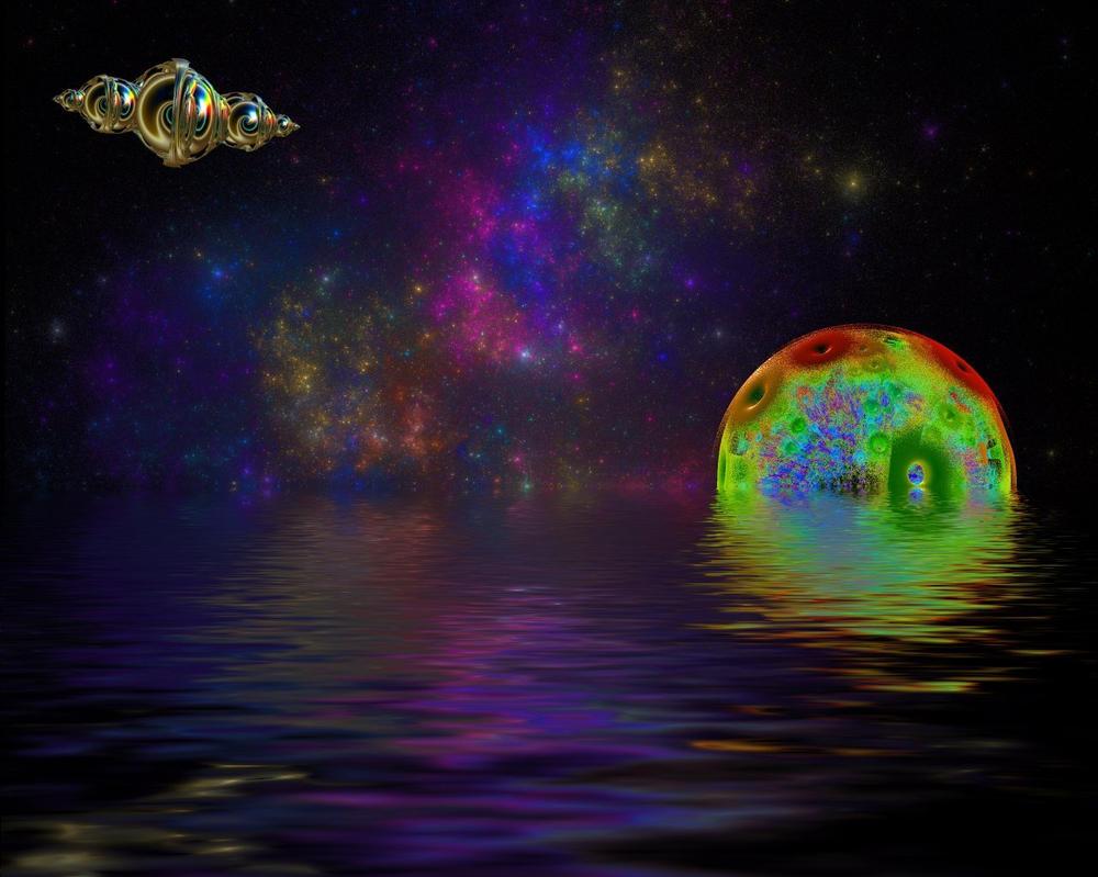 Rainbow moon reflex by AngeloVentura