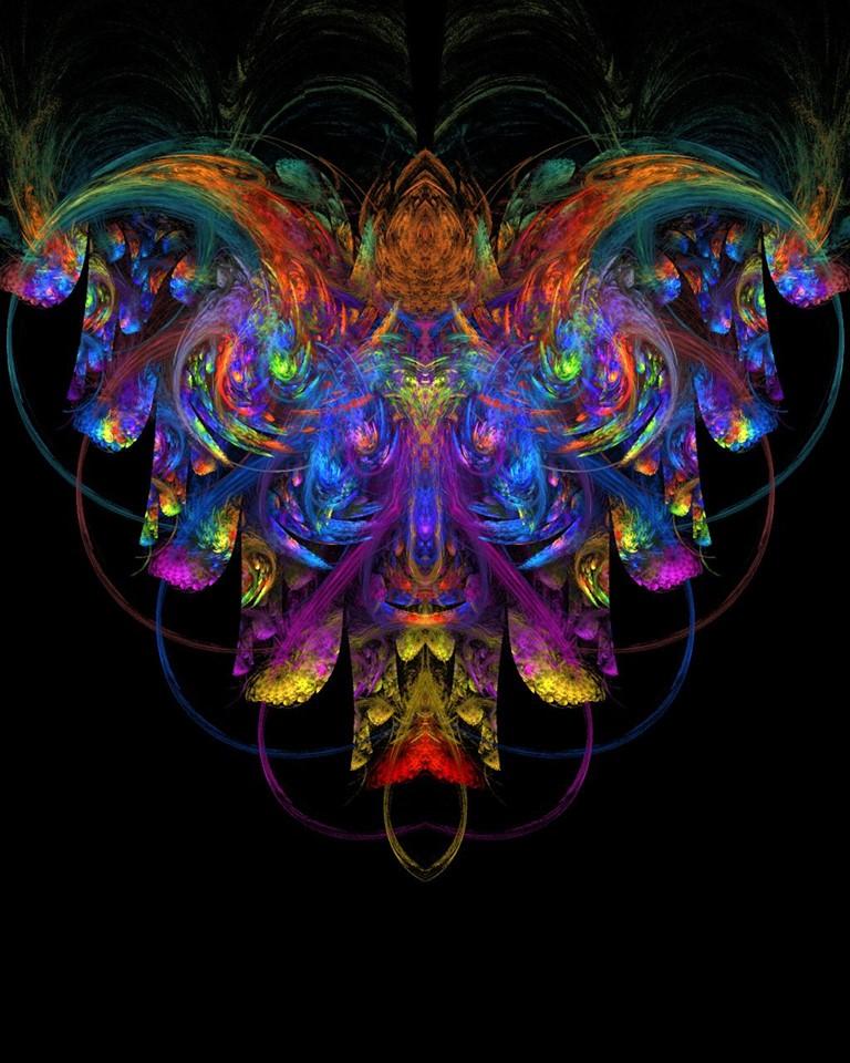 Abstract Rainbow Angel by AngeloVentura