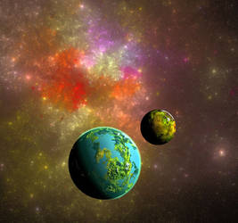 Galactic edge worlds
