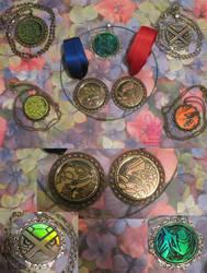 Pokemon TCG coin pendants by Sherval
