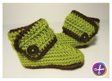 Baby Booties - New Born/6 Months by HinaPalitah