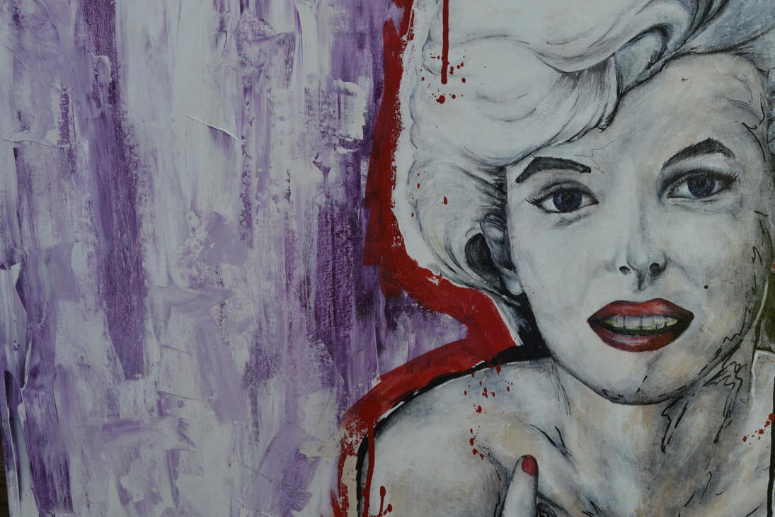 marilyn monroe close-up by helios-c7