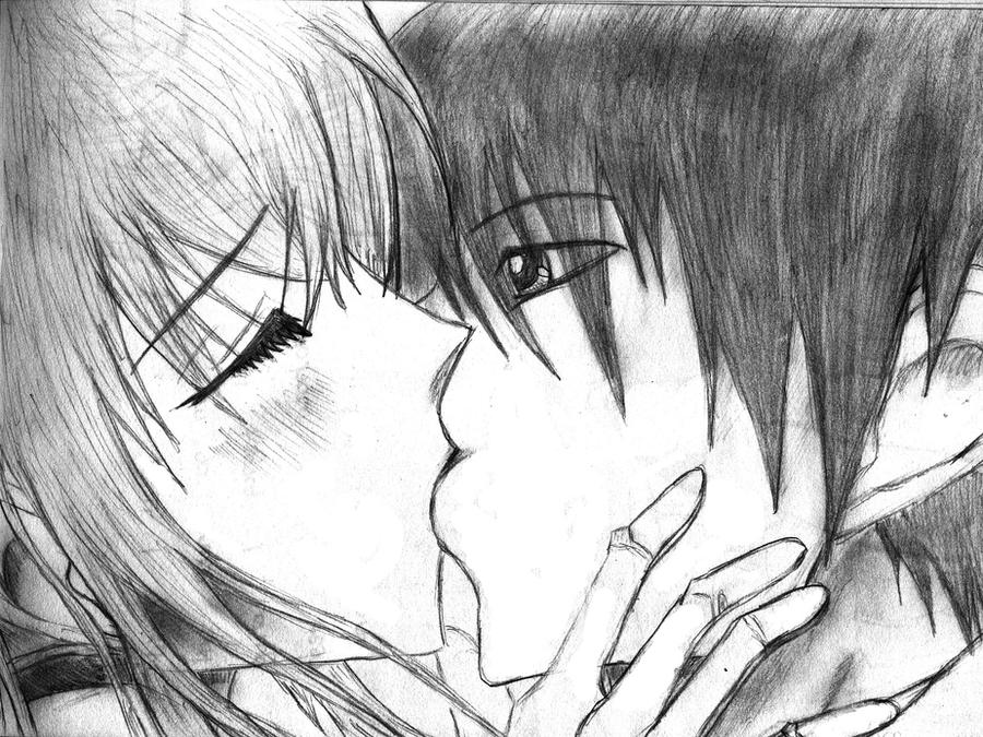 Anime boy and girl kissing by swantje95 animelover