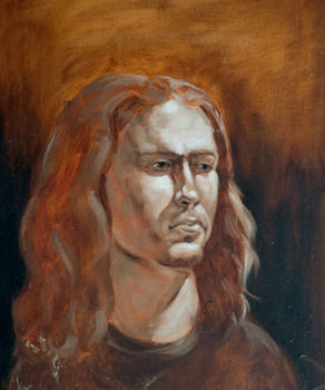 mono painting portrait