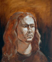 mono painting portrait by Darkdesyre