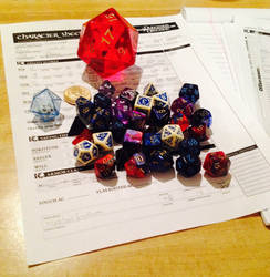 Dice and Character Sheet by NextJen