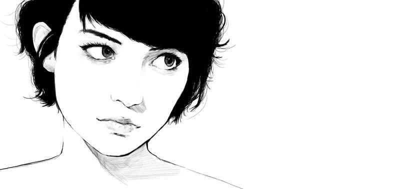 short hair girl by Tim-lee