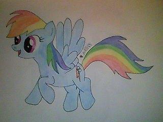 Rainbow Dash Fan Art (1) by mika-love-4ever