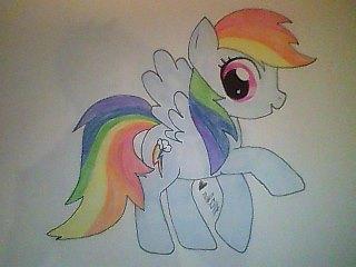 Rainbow Dash Fan Art (2) by mika-love-4ever