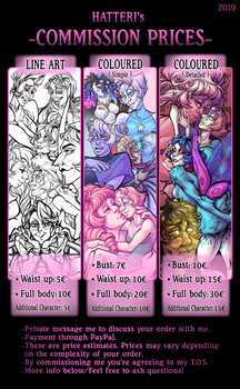 My COMMISSION PRICES 2019