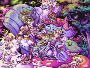 COMMISSION: Steam Punk Tea Party