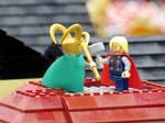 Lego Loki and Thor