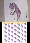Princess Horse Fabric Design