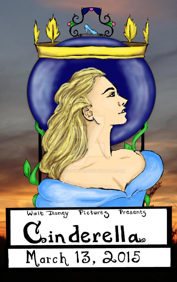 Cinderella Art Nouveau Movie Poster