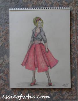 Rose Tyler Idiot's Lantern Drawing