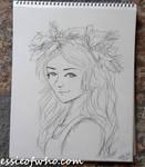 Christmas Holly Sketch
