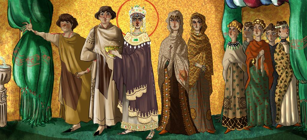 Theodora mosaic by NerinaSam