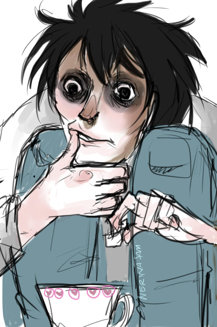 watching new death note movie by NerinaSam