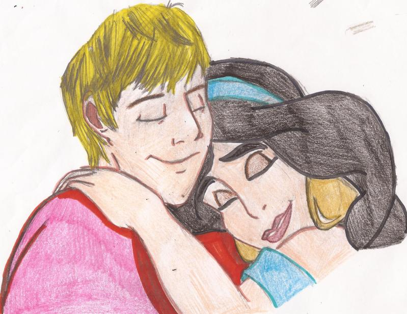 Arthur and Jasmine Hug Scene by FaPingMulan