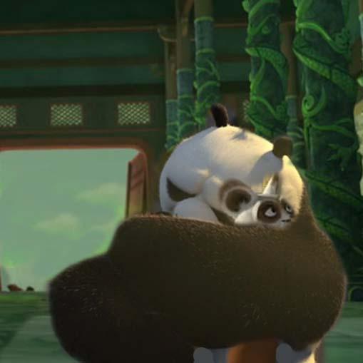 Po and Shifu Hug Rp Sc... Kung Fu Panda Po And Shifu