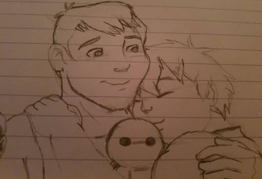 Little Tadashi and Hiro