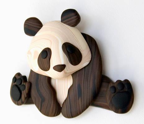 Faux Wood Panda