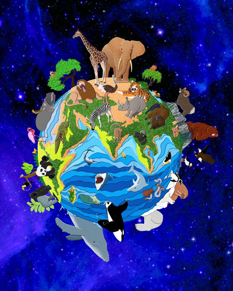 a world of animals by fauxhead on deviantart