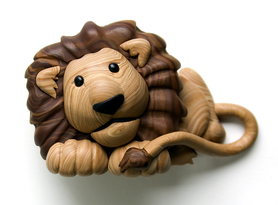 Faux Wood Lion by FauxHead