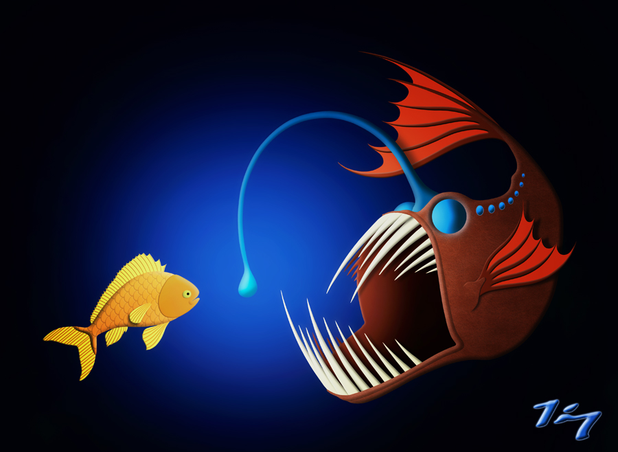 Angler fish by fauxhead on deviantart for What is an angler fish