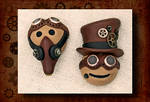 Steampunk Emote Pins by FauxHead
