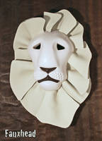 White Lion Tribal Mask by FauxHead