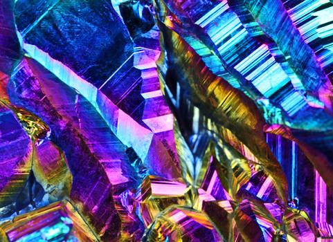 Rainbow Titanium Crystals