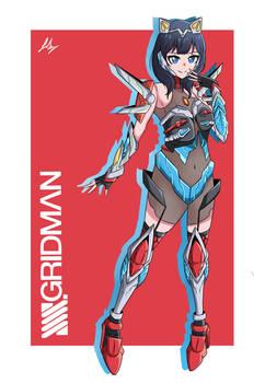 Gridman x Rikka - SSSSGridman fanart