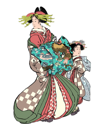 japanese women in dress by jackpoint23