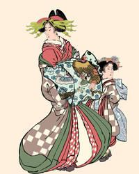 women in dress by jackpoint23