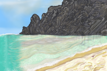 scenic beach landscape by jackpoint23