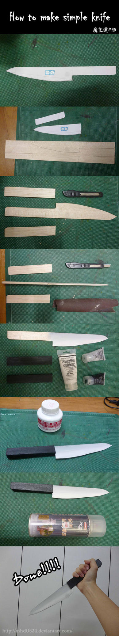 How to make a simple knife by MHD0524