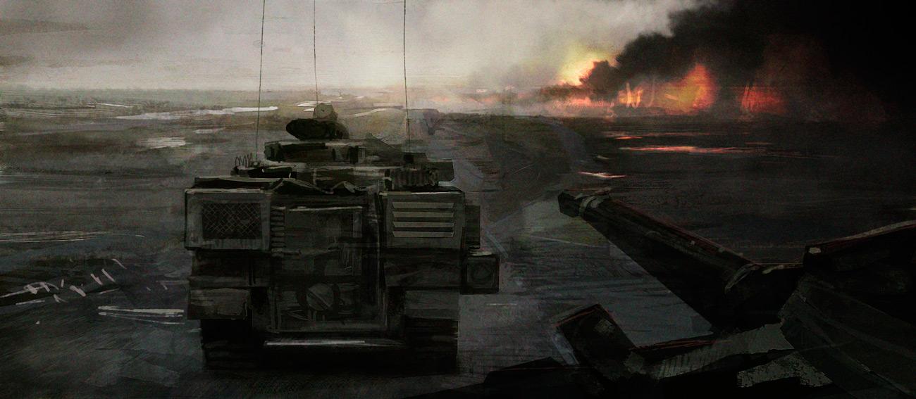 Oil fields by ChrisRosewarne