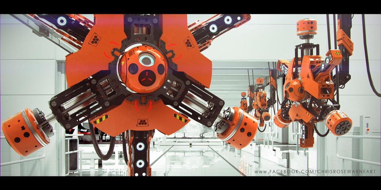 Factory Robot by ChrisRosewarne