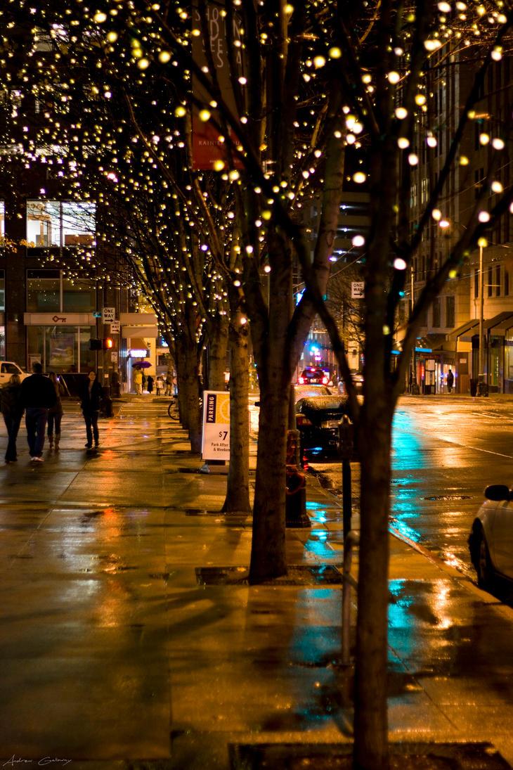 Rainy City Nights by AndrewZissou
