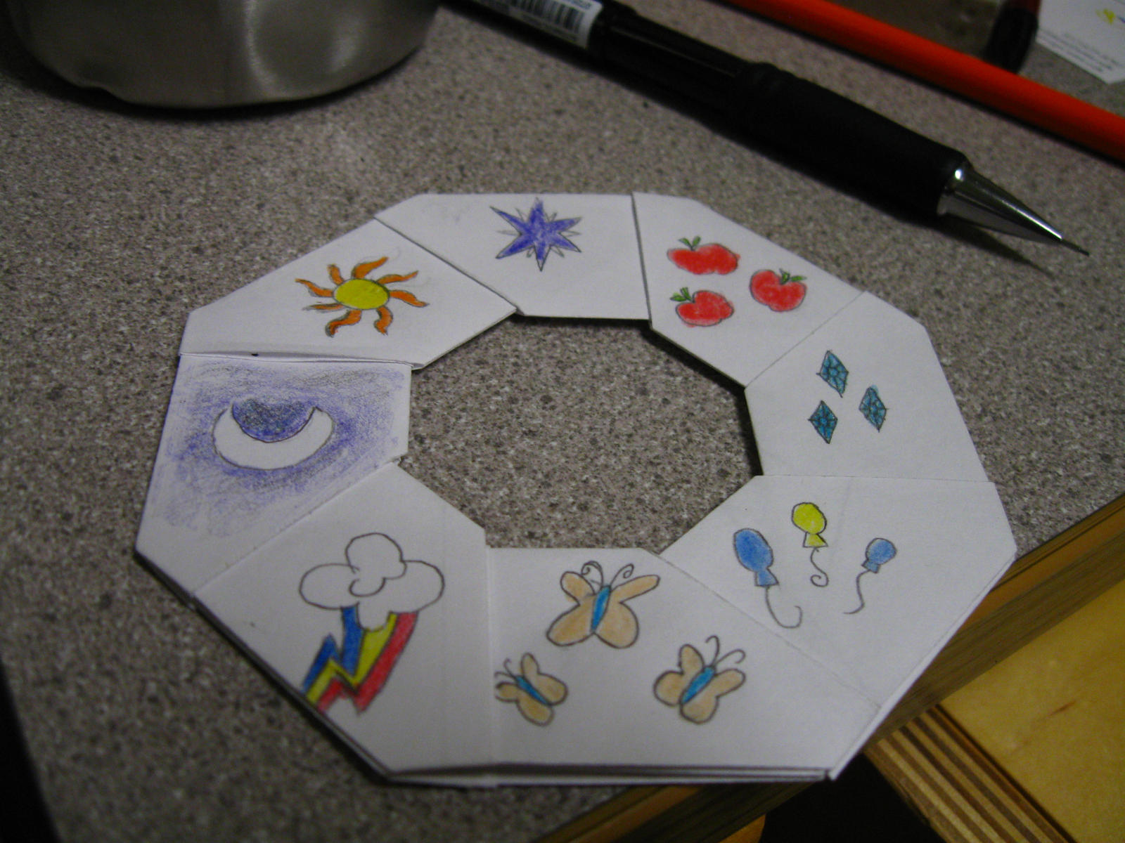 Origami Throwing Star Frisbee