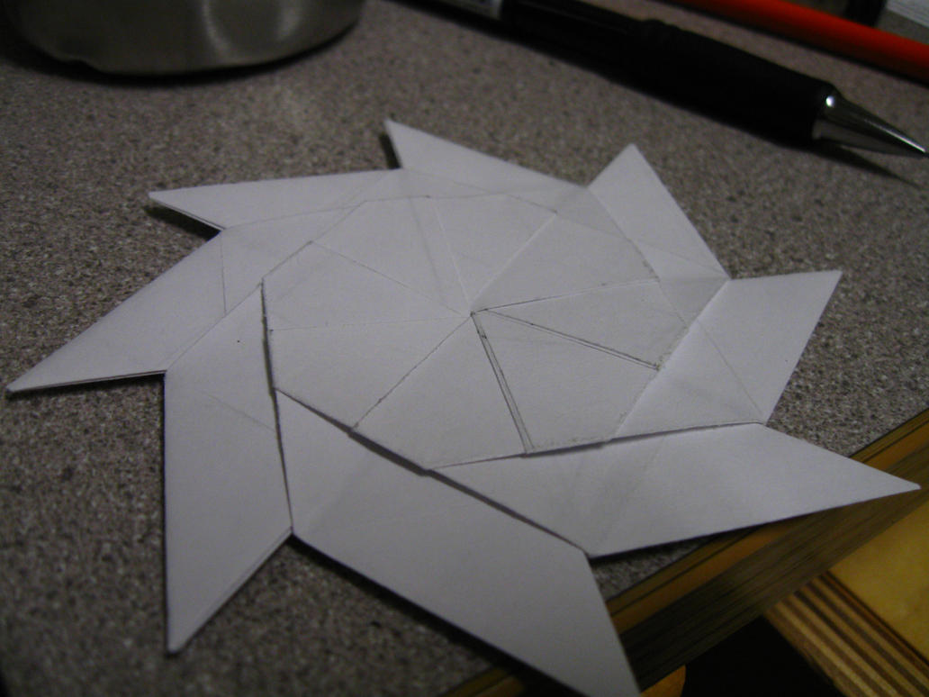 An Origami Throwing Star With A Surprise By Michaelajunker On