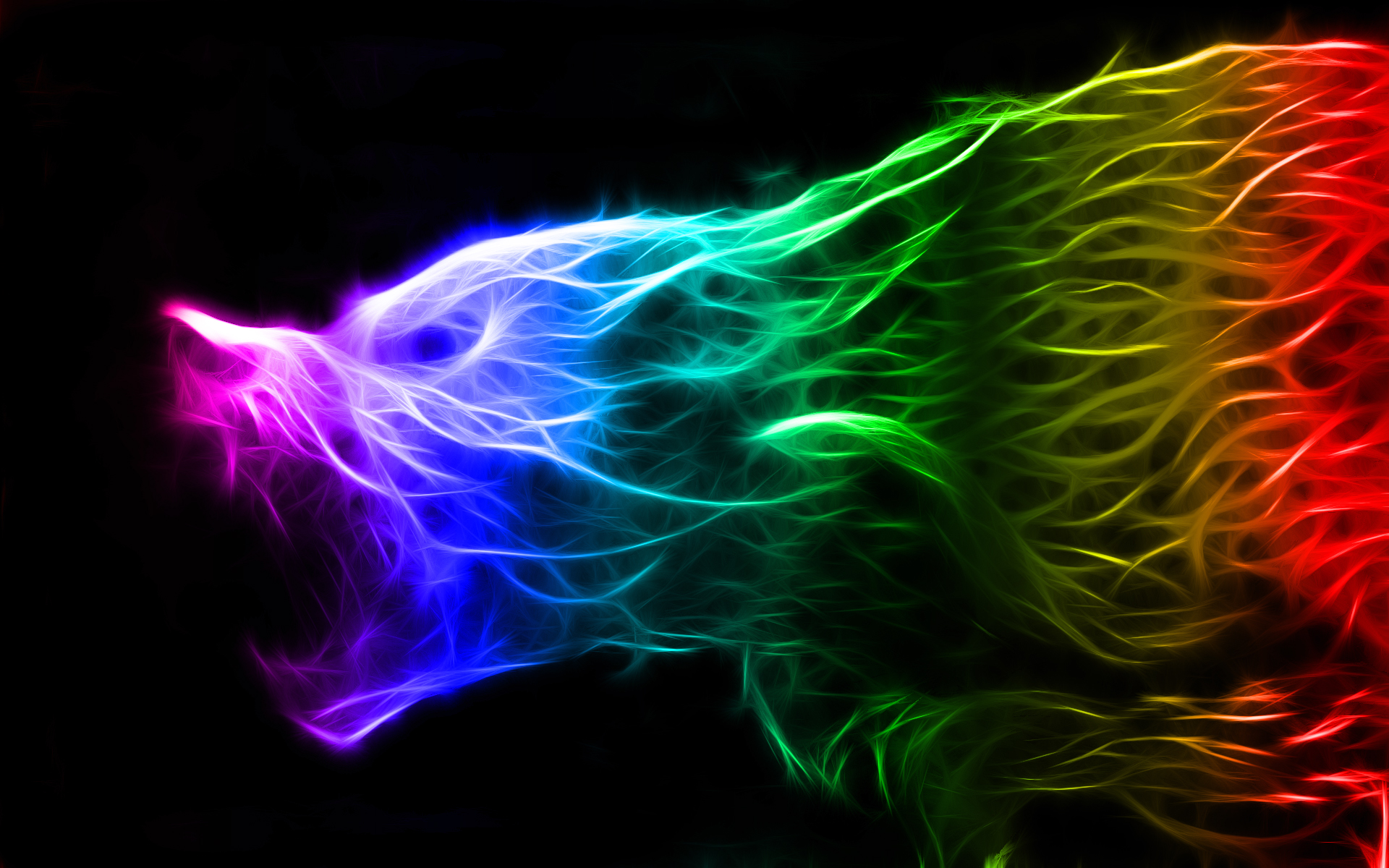 Colorful Fractal Wolf by Wocorcaman on DeviantArt