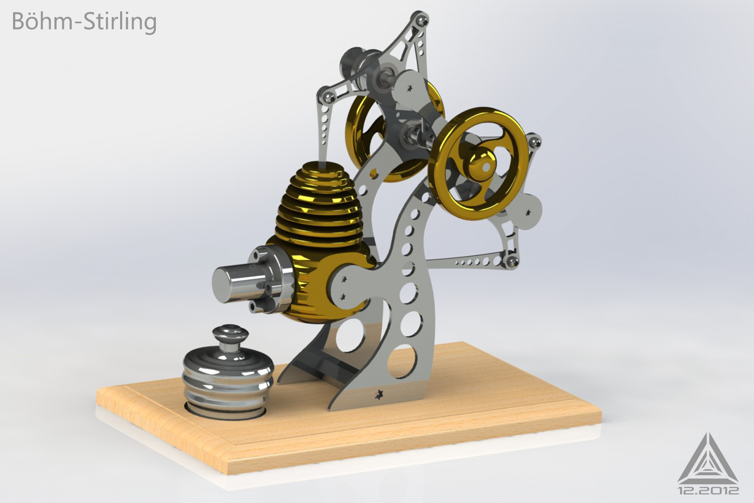 3d stirling engine by icosaedri on deviantart for Decor 9 stirling