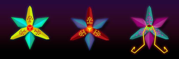 Polygonal flower by ideatomik
