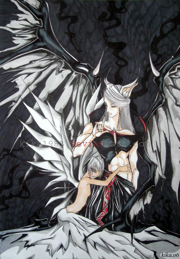 angel and demon by kik...