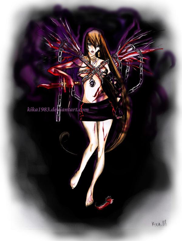 fallen angel-commission by kika1983