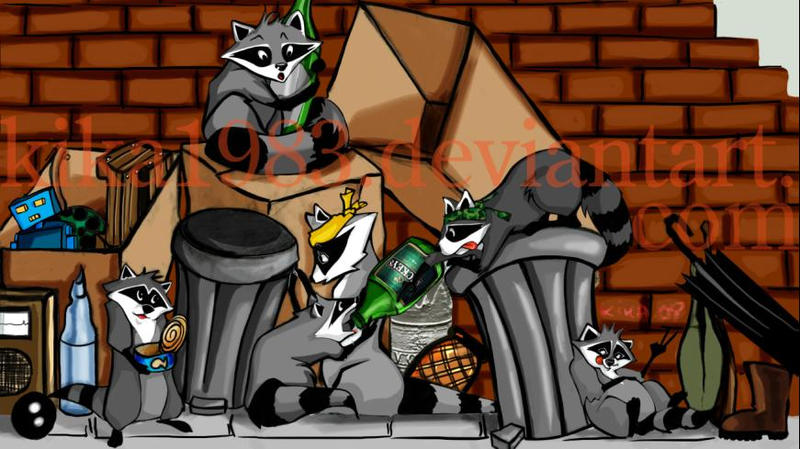 raccoon squad : commission by kika1983